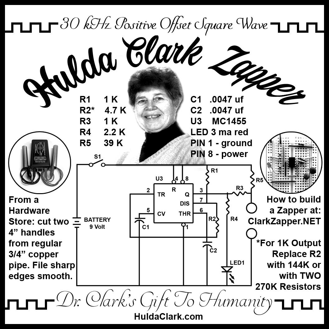 hulda clark zapper schematic 30 khz and 1000 hz
